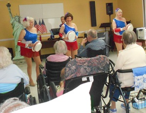 Tapsations dancing with the residents
